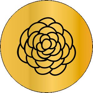 SINETE-PADRÃO -FLORAL- MOD-13