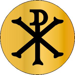 SINETE-PADRÃO-RELIGIOSO-MONOGRAMA DE CRISTO