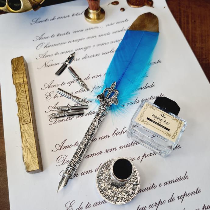 kit-pena-caligrafica-vintage-completo-azul-claro